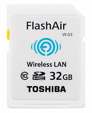 Toshiba Flash Air WiFi/Tarjeta De Memoria Sd Inalámbrico W03 - 32GB