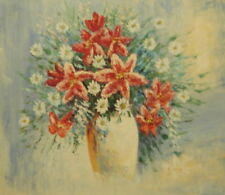 Medium (up to 36in.) White Floral Art Paintings