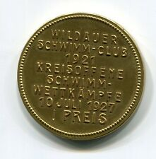 DSV-medaillie di 1927 dal nuota-Club Wildau I. prezzo cerchio aperto da competizione