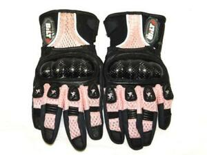 Bilt XS Womens Pink Black Motorcycling Riding Sprint Gloves Perforated Fingers