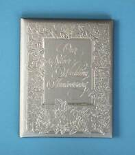 Vintage Hallmark Silver Rose Anniversary Album NIB Wedding 11 x 9 Book