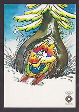 OLYMPIC Sarajevo 1984 VUCKO WOOCHKO  wolf official mascot-Unused post card