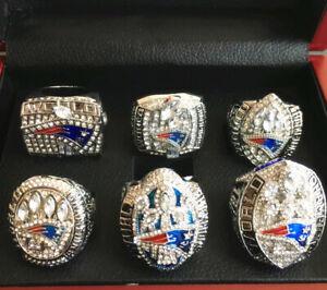 6PCs (01 03 04 14 16 18) New England Patriots World Championship Ring !-