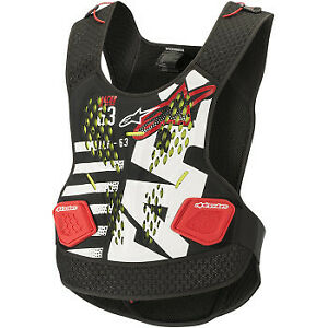 Alpinestars Sequence Chest Protector Black/White/Red All Sizes