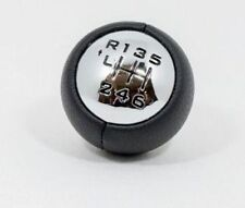 Gear Shift Knob Black Real Leather 6 Speed For Peugeot 307 308 407 807 3008 5008
