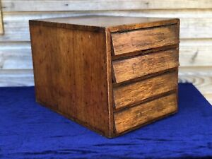 Antique Industrial Haberdashery Bank Of Drawers Collectors Chest