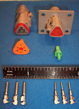 3-Way FLANGED Deutsch DT connector kit