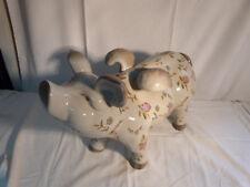 Porzellan / Keramik Schwein mit Flügeln 49 cm / Deko / Geflügeltes Schwein