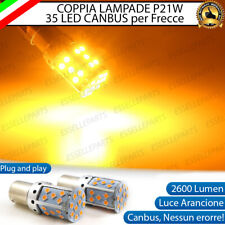 COPPIA LAMPADE P21W BA15S CANBUS 35 LED ARANCIONI AUDI A4 B7 FRECCE ANTERIORI