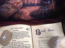 LIBRO DELLE OMBRE Libro in Pelle 180+ pagine info incantesimi e così via Pentacolo Ciondolo