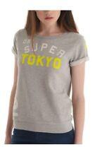 New Superdry women's top XS (UK 8) /Slouch crew neck sweat top/soft/short sleeve