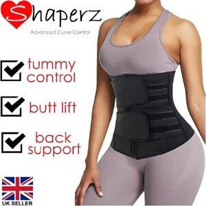 Waist Trainer Sweat Belt Men Women Body Cincher Shaper Tummy Wrap Slim Band UK
