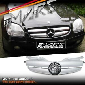Silver AMG Style Bumper Bar GRILLE GRILL for Mercedes-Benz SLK R170 Convertible