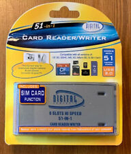 NEW 51-in-1 Card Reader/Writer Compatible w/all SD, CF, MS and More