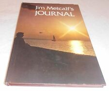 VINTAGE JIM METCALF AUTOGRAPHED SIGNED RARE JOURNAL BOOK WWL-TV OLD NEW ORLEANS