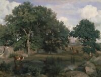 Forest of Fontainebleau Camille Corot Fine Art Print on CANVAS Giclee Home Decor