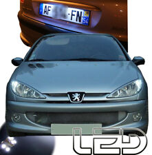 Peugeot 206 4 Ampoules LED Blanc Anti erreur Plaque immatriculation Veilleuses