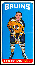 1964 65 TOPPS TALL BOYS HOCKEY #50 LEO BOIVIN  VG-EX BOSTON BRUINS CARD