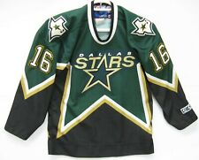Boys Vintage Brett Hull Dallas Stars Jersey CCM Hockey Sewn Youth Small Medium