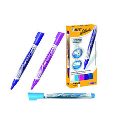 BIC VELLEDA DRYWIPE FASHION WHITEBOARD MARKERS / 4 ASSORTED COLOUR PK / 927157