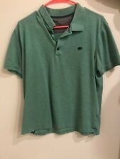 Mens Banana Republic Large Green Short Sleeve Polo Shirt