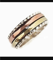 Solid 925 Sterling Silver Spinner Ring Meditation Ring Statement Ring Size sr304