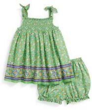Ralph Lauren Vestido Estampado Floral & BLOOMERS (bebé niñas)