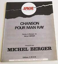 Partition sheet music MICHEL BERGER : Chanson Pour Man ray * 90's