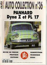 AUTO COLLECTION 36 PANHARD DYNA Z PANHARD PL 17 PANHARD PL17