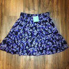 Kate Spade Floral Hydrangea Chiffon Skirt Womens Size Small Blue And Purple $298