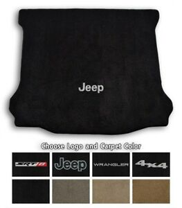 Jeep Wrangler Ultimats Carpet Cargo Floor Mat - Choose Color & Logo