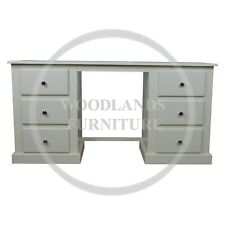 HANDMADE DEWSBURY 6 DRAWER DRESSING TABLE IN IVORY CREAM (ASSEMBLED)