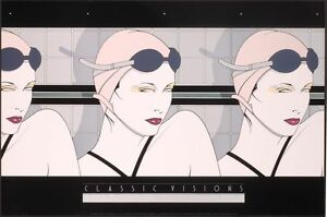 Patrick Nagel SWIMMERS Rare Lithograph Art Women Swimming Out of Print New