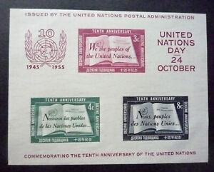 NATION-UNIES 1955 Bloc n° 1 Neuf** - MNH - Tâché