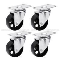 """2/4/8x Swivel Casters 3""""&3.5"""" Heavy Duty Steel Cast Iron Plate Casters Wheels"""