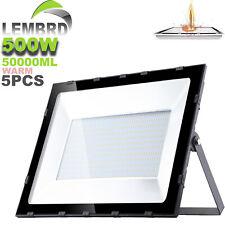 5X 500W LED Security Light LEMBRD Warm White Outdoor Garden Lighting Floodlight