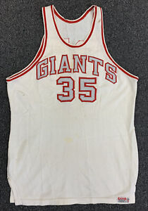1950s/60s New York Giants NFL Charity Basketball Game Used Durene Jersey #34