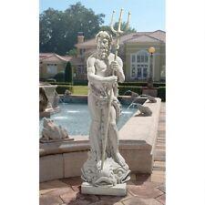 Ancient Greek Pioseidon Neptune Greek Roman God of the Sea Sculpture Statue