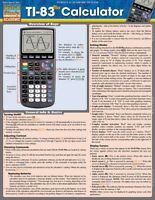 BarCharts 9781423216711 Ti-83 Plus Calculator Quickstudy Easel