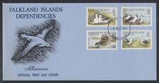 Falkland South Georgia 1985 FDC Mi.129/32 Vögel Birds Albatrosse [bl0011]