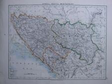1916 Landkarte ~ Bosnien Servia Montenegro Herzegowina Belgrad