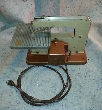 Vintage Antique Table top Mini Scroll Saw working......