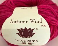Lotus Yarn Autumn Wind Hat Scarf Alpaca Cotton Cashmere Goat Knit Crochet