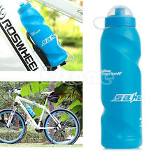 Bicycle Bike 700ml Plastic Water Drink Bottle Outdoor Sport Camping Hiking Blue