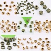 30//90pcs Tibetan silver Flat Loose Spacer Beads DIY Jewelry Findings 6.5mm