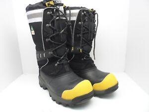 "Dakota Men's 13"" Steel Toe Insulated Rubber Work Boot Black/Yellow Size 10M"