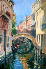 Venice,Italy, Ponte Widmann, Landscape on canvas by Star