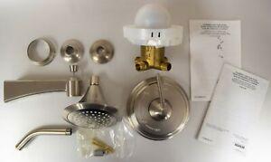 KOHLER Archer Vibrant Brushed Nickel 1-Handle Bathtub and Shower Faucet