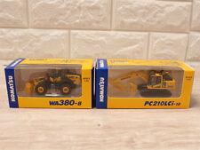 KOMATSU 1:87 WA380-8 PC210LCi-10 2 set japan Miniature toy EXCAVATOR New F/S