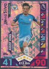 TOPPS MATCH ATTAX 2016-17- #383-MANCHESTER CITY-DAVID SILVA-ASSIST KING-FOIL